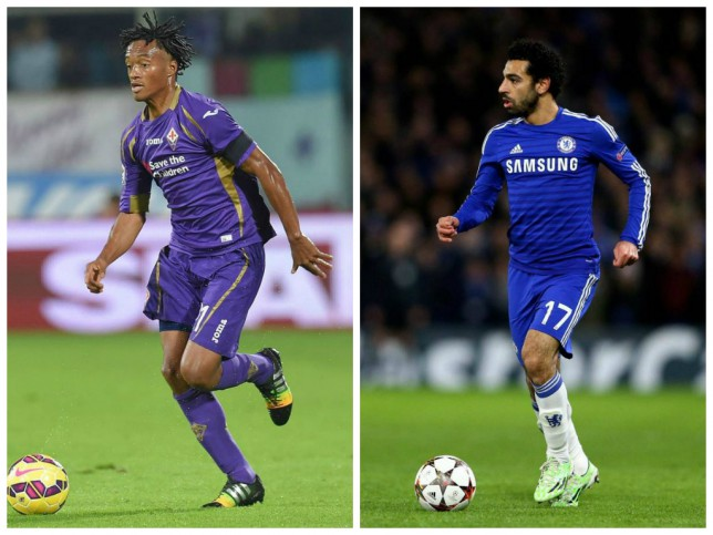 Juan Cuadrado looks to be on his way to Chelsea with Mohamed Salah going the other way (Picture: Getty Images)