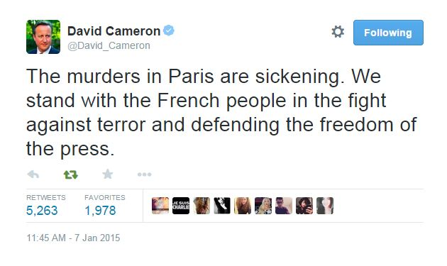 'Barbaric attack on freedom of speech' World leaders react to attack on satirical magazine Charlie Hebdo