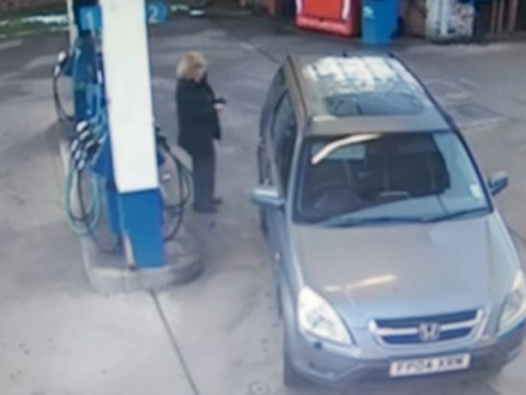 Watch driver get totally confused about 'moving' fuel cap on her car