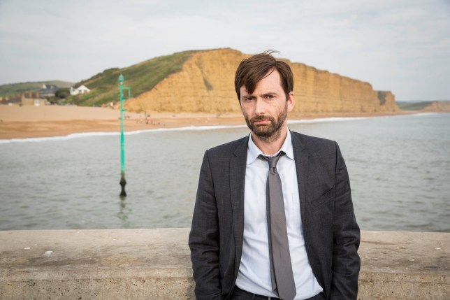 David Tennant in a rare photo where he ISN'T staring out to sea (Picture: ITV/Kudos)