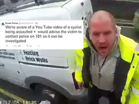 Police issue cyclist appeal on Twitter after shocking 'van assault' video is shared on YouTube