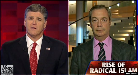 Nigel Farage tells Fox News that most French cities are 'no go zones' for non-Muslims