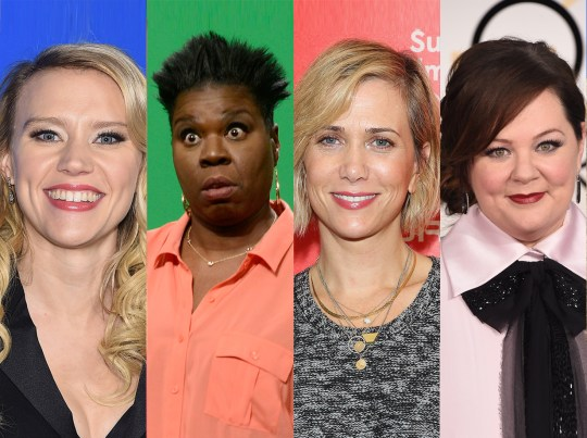 The cast of the new Ghostbusters