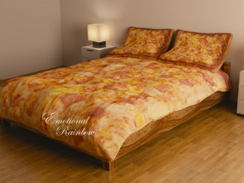 Wake up to a slice of heaven every day with this Hawaiian pizza bedding