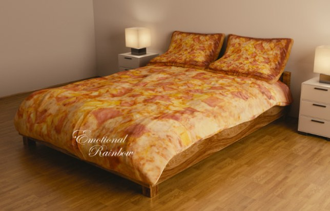 Emotional Rainbow Hawaiian pizza bedding
