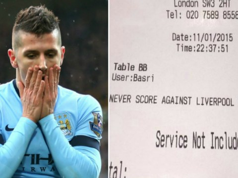 Fan tries to bribe Manchester City's Stevan Jovetic to not score against Liverpool by paying for meal