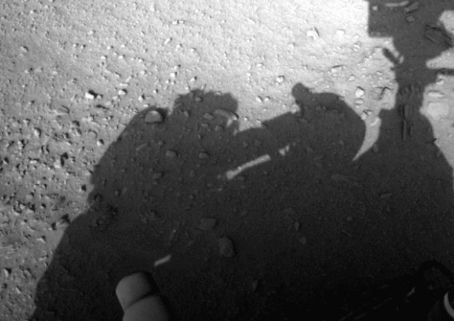 Is this a spaceman, or just a rogue shadow? (Picture: NASA)