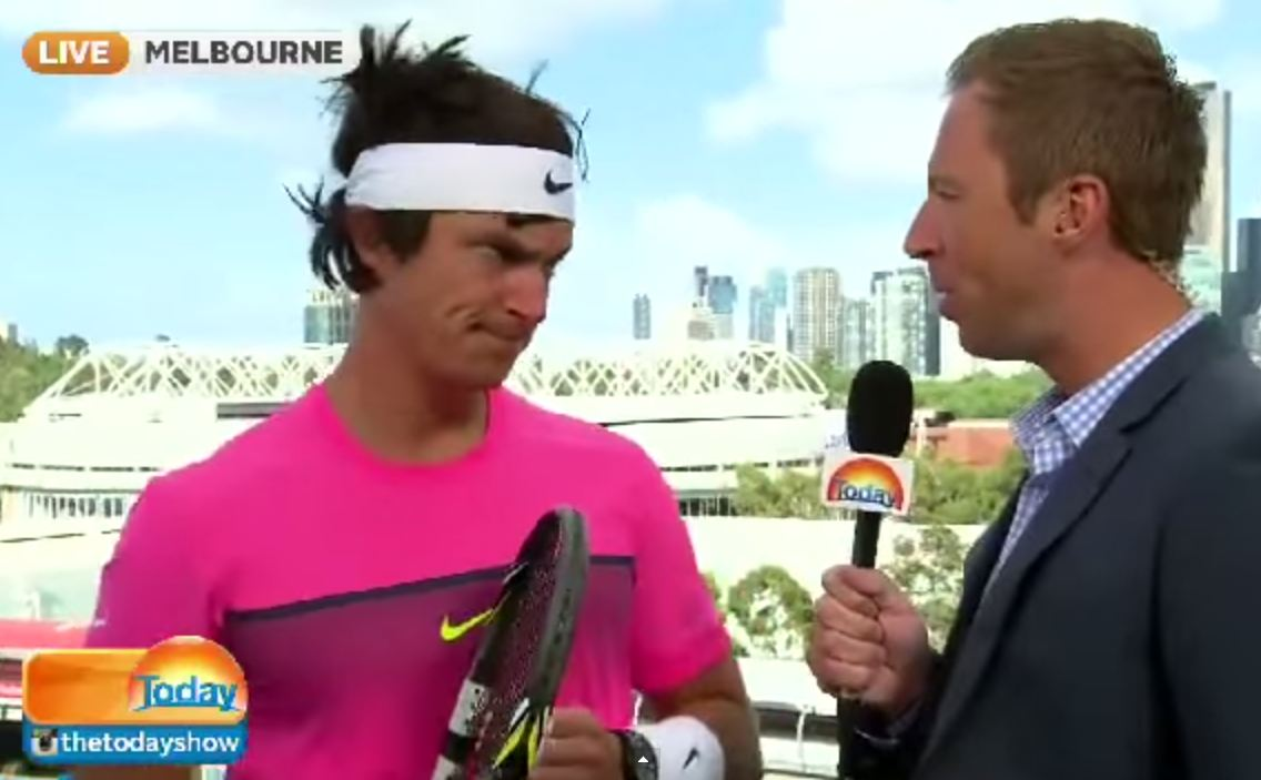 This Australian comedian's Rafael Nadal impression is pretty much perfect