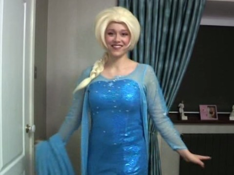 Meet the woman who actually lives her life as Elsa from Frozen