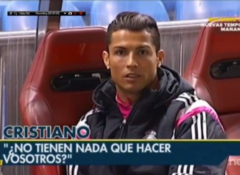 Cristiano Ronaldo gets annoyed at cameraman filming him during Real Madrid's loss to Atletico Madrid