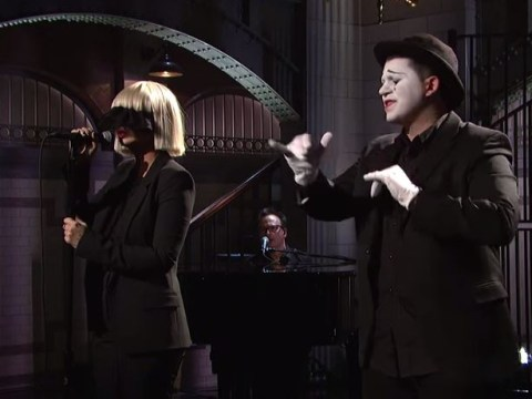 Anti-fame singer Sia obscures her face on Saturday Night Live performing with 12-year-old dancer Maddie Ziegler, Shia LaBeouf is nowhere to be seen