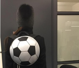 Victoria Beckham wears football backpack and it just made us love her even more