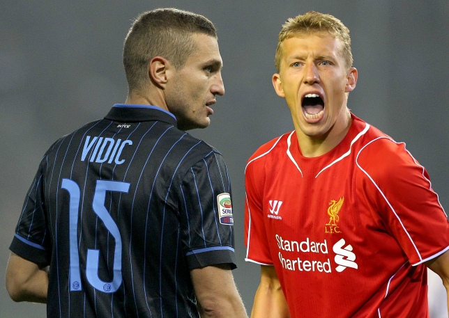 Liverpool 'offered Nemanja Vidic in shock Lucas Leiva transfer deal'