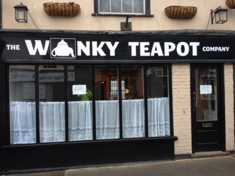 Is this new cafe's choice of logo unfortunate or inspired?