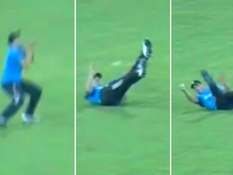 England cricket star Chris Woakes pulls off superb 'juggling catch'