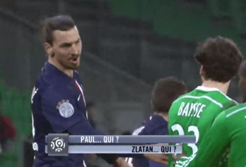 This is what happens when you ask Zlatan Ibrahimovic 'who he is'