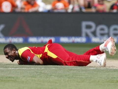 Zimbabwe's Tinashe Panyangara 'celebrates like a beached whale' at the Cricket World Cup