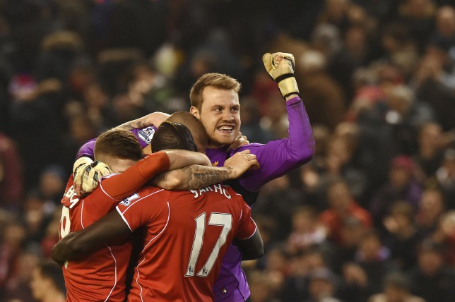 Simon Mignolet has kept five clean sheets in his last 10 appearances for Liverpool (Picture: AFP/Getty Images)