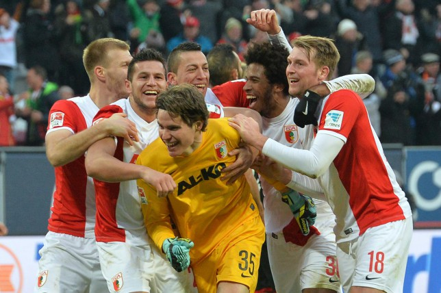 Augsburg 'keeper Marwin Hitz nets stoppage-time equaliser in 2-2 draw with Bayer Leverkusen