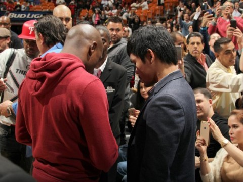 Will Floyd Mayweather v Manny Pacquiao be announced at the Super Bowl tonight?