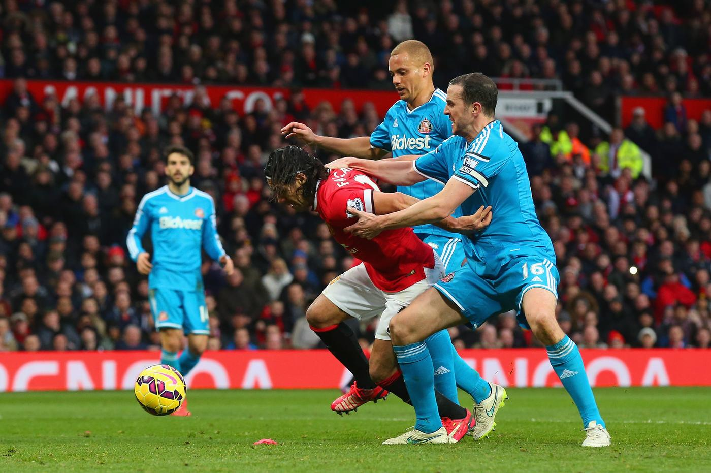 Refereeing blunder as Wes Brown sees red against Manchester United despite John O'Shea making foul