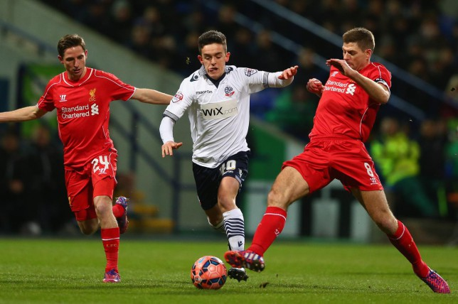 Dive? Liverpool fans fume as Bolton's Zach Clough wins 'soft penalty'