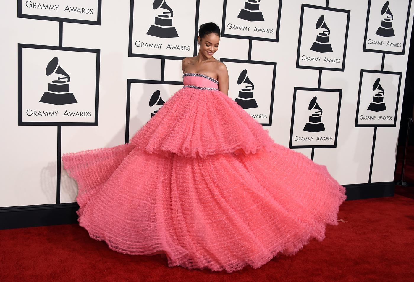 Rihanna looked like a perfect fairytale princess at the Grammys
