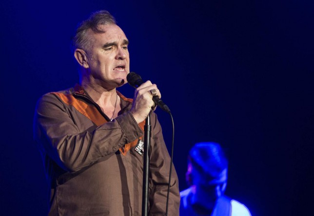 ISTANBUL, TURKEY - DECEMBER 17: Morrissey, vocalist of the band The Smiths, performs on stage at Volkswagen Arena on December 17, 2014 in Istanbul, Turkey. Anadolu Agency/Getty Images