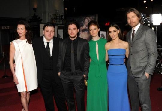 Michelle Fairley, John Bradley, Kit Harington, Rose Leslie, Emilia Clarke, Nikolaj Coster-Waldau, Game Of Thrones