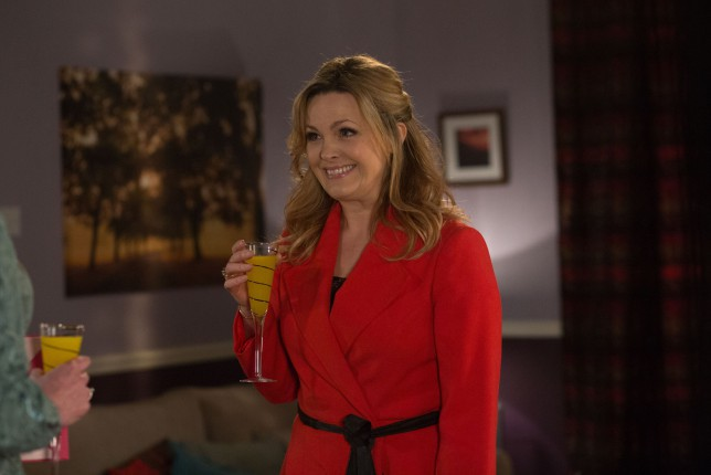 Programme Name: EastEnders - TX: 18/02/2015 - Episode: 5016 (No. n/a) - Picture Shows: Tanya arrives for the wedding. Tanya Branning (JO JOYNER) - (C) BBC - Photographer: Jack Barnes