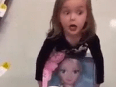 'Let's just take it…!' Watch this little girl go to extreme lengths to nab a coveted Frozen doll