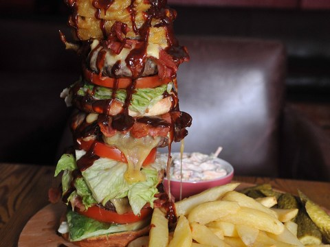 Meet the Nelson's Column burger – a foot tall, 10,500 calorie beast which costs a whopping £30