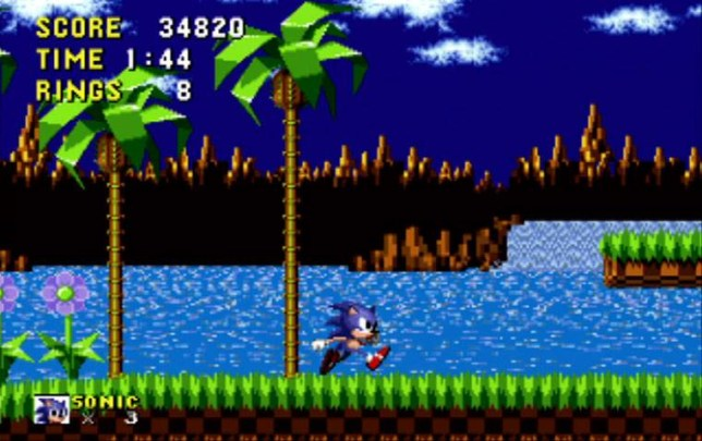 Sonic The Hedgehog platform game released in 1991 -Sega Master System Credit: Sega