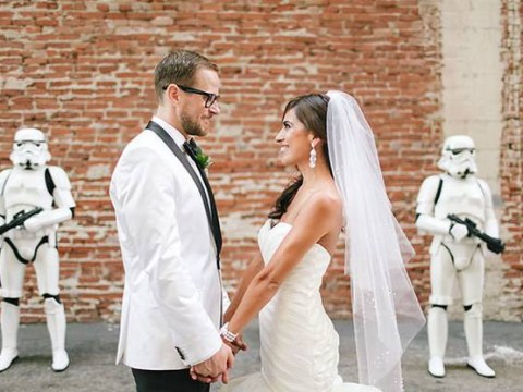 Who said Star Wars-inspired weddings couldn't be classy?