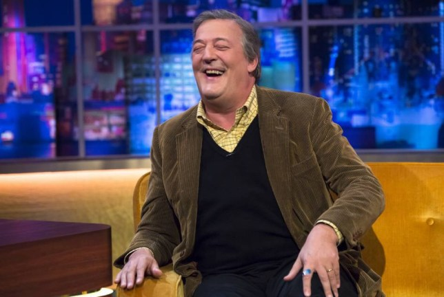 EDITORIAL USE ONLY / NO MERCHANDISING  Mandatory Credit: Photo by Brian J Ritchie/REX (4419308bg)  Stephen Fry  'The Jonathan Ross Show' TV Programme, London, Britain. - 07 Feb 2015