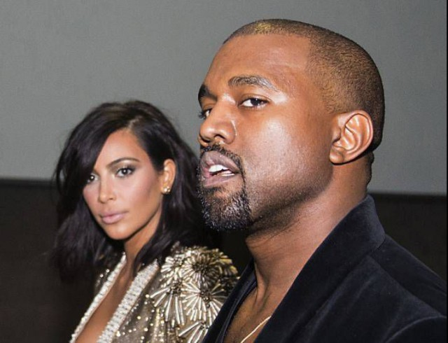 Kim Kardashian and Kanye West attend the 57th Annual Grammy Awards Official After Party on Sunday, Feb. 8, 2015 in Los Angeles, CA. (Photo by [Colin Young-Wolff/Invision/AP)
