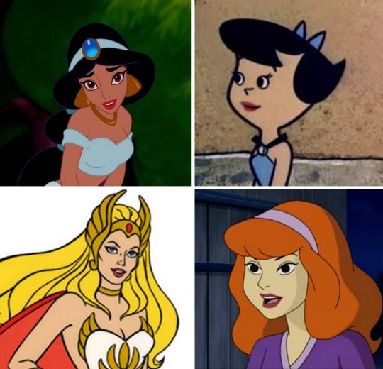 From Wonder Woman To Jasmine 15 Female Cartoon Characters We