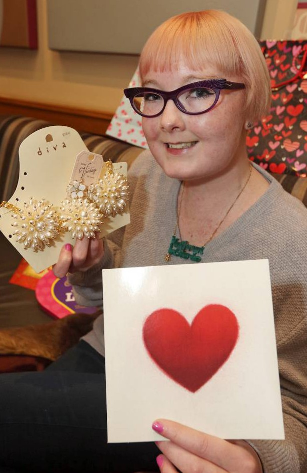 BPM MEDIAnJodie Morgan set up a valentines day card appeal for cancer girl Kathryn Cartwright, who has never received a Valentine's Card...  Pictured Kathryn Cartwright