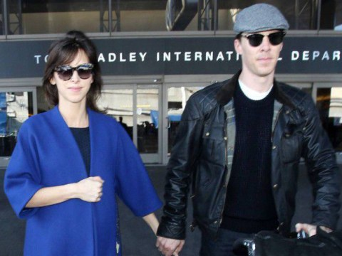 Benedict Cumberbatch and Sophie Hunter land in LA for honeymoon