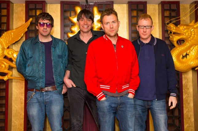 Blur (left to right) Graham Coxon, Alex James, Damon Albarn and Dave Rowntree, who have been announced as the headline band for Barclaycard Presents British Summer Time Hyde Park 2015, at a photocall at the Golden Phoenix restaurant, in Chinatown, London. PRESS ASSOCIATION Photo. Picture date: Thursday February 19, 2015. See PA story SHOWBIZ Blur. Photo credit should read: Dominic Lipinski/PA Wire