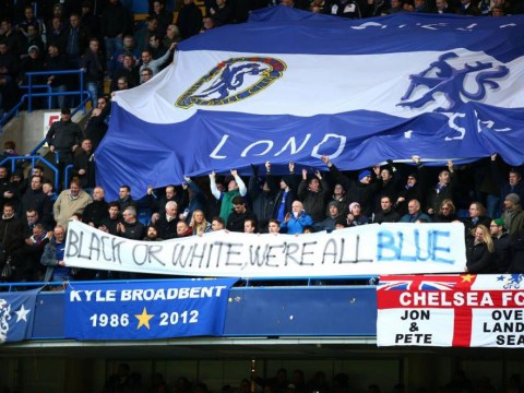 Chelsea fans stand up to racism with banners during Burnley clash