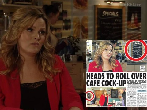 EastEnders live week 2015: No, there wasn't a penis on the specials board behind Tanya Branning