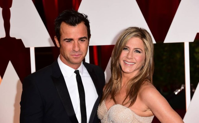 Justin Theroux and Jennifer Aniston arriving at the 87th Academy Awards held at the Dolby Theatre in Hollywood, Los Angeles, USA. PRESS ASSOCIATION Photo. Picture date: Sunday February 22, 2015. See PA story SHOWBIZ Oscars. Photo credit should read: Ian West/PA Wire