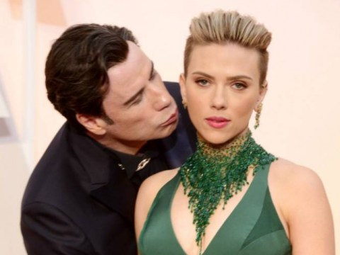 'There's nothing creepy about him': Scarlett Johansson defends John Travolta after THAT Oscars kiss