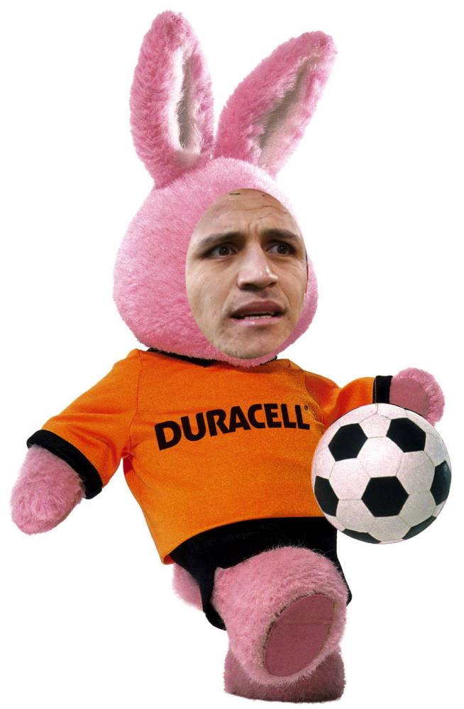 Duracell soccer Bunny The picture was used in connection with an Evening Standard World Cup Ticket offer