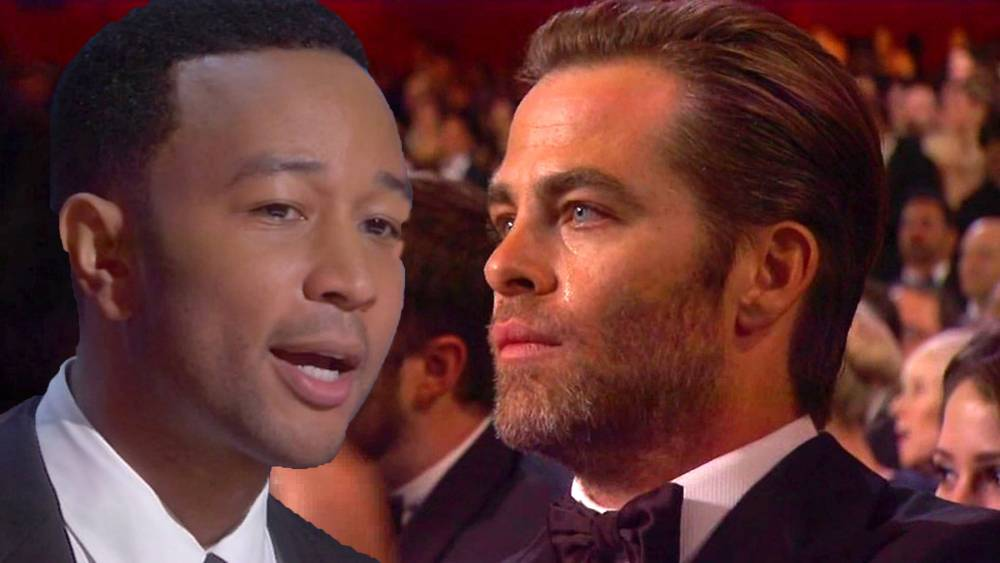 Oscars 2015: John Legend's performance of Glory was so moving it brought Chris Pine to tears