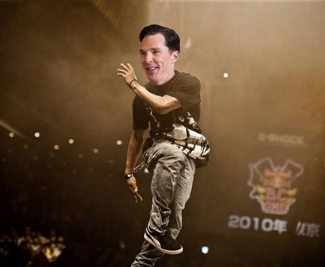 Benedict Cumberbatch breakdancing