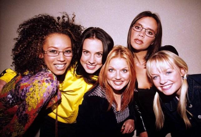 Mandatory Credit: Photo by Brian Rasic/REX (553365g) The Spice Girls - Melanie B, Melanie C, Geri Halliwell, Victoria Adams and Emma Bunton Various