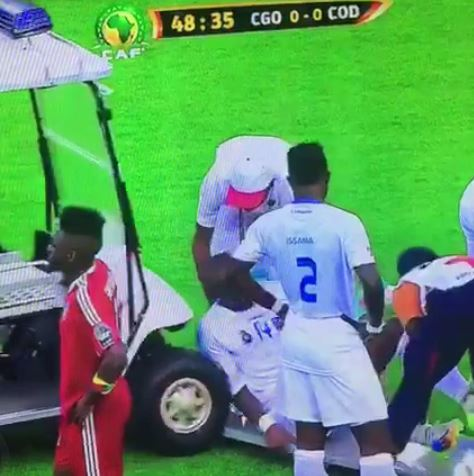 Gabriel Zakuani gets hit by medical buggy