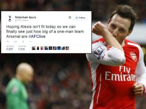Tottenham Hotspur fan's 'one-man team' prediction backfires as Arsenal thrash Aston Villa